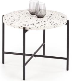 Kafijas galdiņš Halmar Lastrico, balta/melna, 500x500x400 mm
