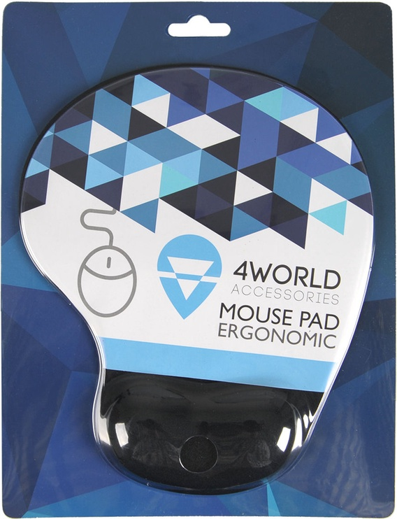 4World 10099 Gel Mouse Pad with Wrist Pillow Black