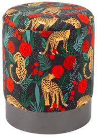 Pufs Home4you Porta Leopard, 35x35x44 cm