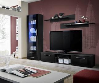 Dzīvojamās istabas mēbeļu komplekts ASM Galino A Black Gloss