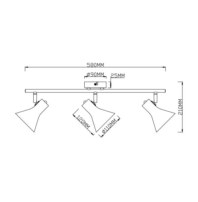 LAMPA GRIESTU NINA R80163002 3X40W E14 (TRIO)