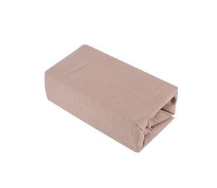 Простыня Okko Jersey 125GSM Brown, 200x200 см, на резинке