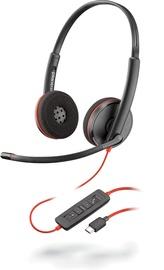 Наушники Plantronics Blackwire 3220 Duo, черный
