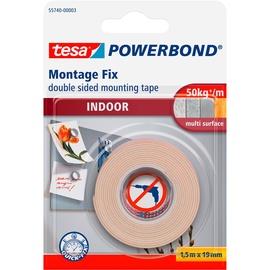 Līmlente Tesa Powerbond Montage Fix Double Sided Indoor Tape 1.5mx19mm White