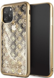 Guess 4G Peony Liquid Glitter Back Case For Apple iPhone 11 Pro Max Gold
