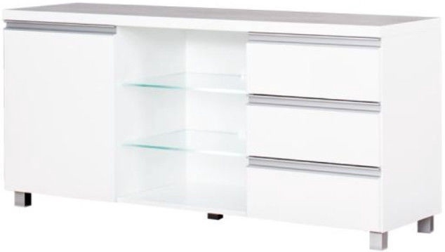 ТВ стол Bodzio Aga AG16, белый, 1380x425x660 мм