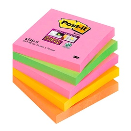 3M Post It Super Sticky Notes Cape Town Colour Collection 5x90pcs