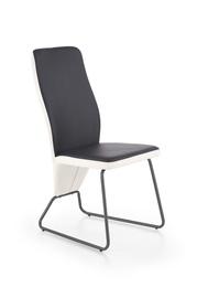Стул для столовой Halmar K - 300, белый/черный/серый