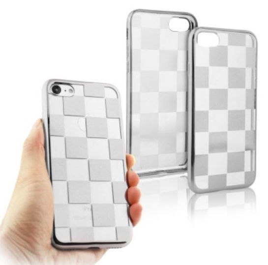 Mocco ElectroPlate Chess Back Case For Apple iPhone 6 Plus/6s Plus Silver