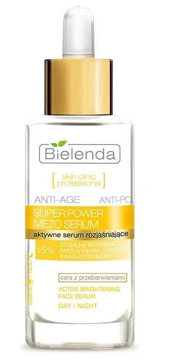Sejas serums Bielenda Skin Clinic Professional Active Anti-Age Skin Brightening Serum Day/Night, 30 ml