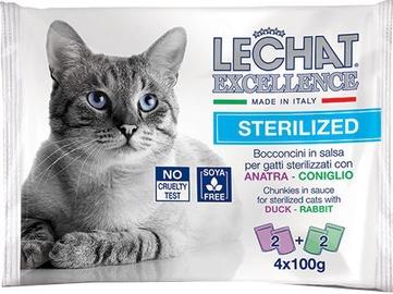 Monge Lechat Excellence Pouches Sterilized Duck/Rabbit 4x100 g