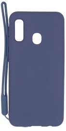 Evelatus Soft Touch Back Case With Strap For Samsung Galaxy A20e Dark Blue