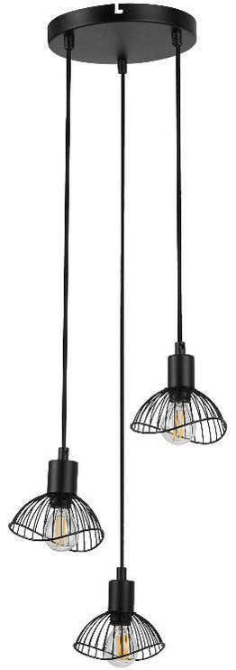 ActiveJet Holly 7 Ceiling Lamp E14 Black