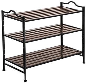 Songmics Shoe Rack Black 68.5x31x56cm