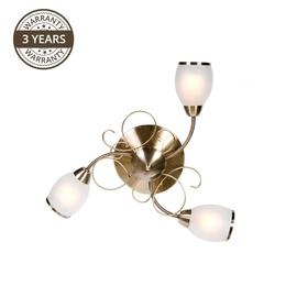 Gaismeklis Domoletti MX91347-3 3x40W Brass