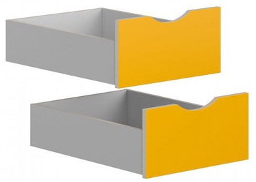 Black Red White Drawers for Stanford Wardrobe Light Grey/Yellow