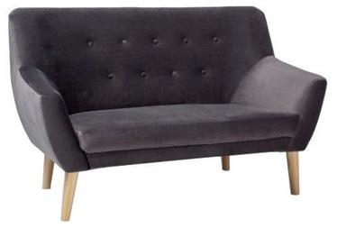 Диван Signal Meble Nordic 2 Velvet Dark Grey, 136 x 75 x 90 см