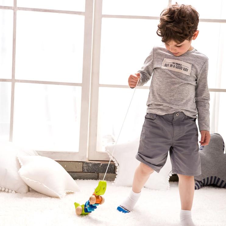 Attīstošā rotaļlieta Classic World Pull Crocodile 3301