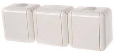 Штепсельное соединение REML 229305000 Triple Socket White