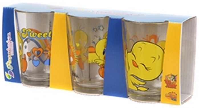 Pasabahce Alanya Tweety Glass Set 3pcs