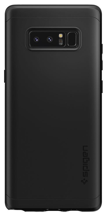 Spigen Thin Fit 360 Cover + Tempered Glass For Samsung Galaxy Note 8 Black