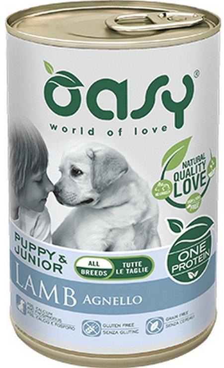 Oasy Wet Puppy & Junior All Breeds Lamb 400g