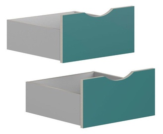 Black Red White Drawers for Stanford Cabinet Light Gray/Turquoise