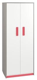 Skapis ML Meble IQ 02 Pink, 80x52x199 cm