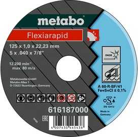 Metabo Flexiarapid 125x1x22.23mm Inox TF 41