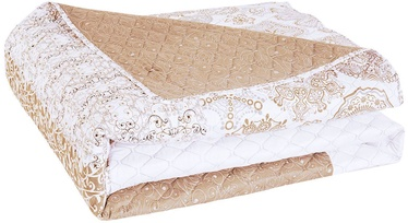 DecoKing Alhambra Bedcover Beige/White 220x240