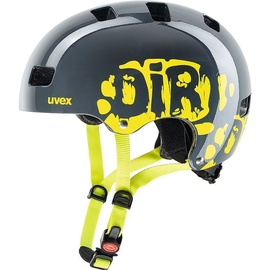 Uvex Kid 3 Helmet Dirtbike Grey Lime 51-55