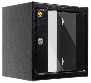 Netrack Wall Cabinet 10'' 6U/300mm Glass Black