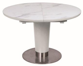 Обеденный стол Signal Meble Helios White Matt, 1600x1200x760 мм