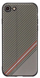 Mocco Trendy Grid And Stripes Pattern 1 Back Case For Apple iPhone 7/8 Brown
