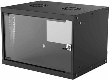 "Intellinet 19"" Basic Wallmount Cabinet 6U 400mm Black 714143"
