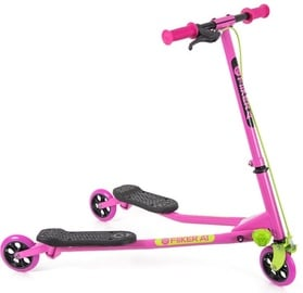 Yvolution Y Fliker Air1 Swing Wiggle Scooter Pink/Green