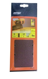 Taisnstūra smilšpapīrs Vagner SDH 108.31 120, 230x93 mm, 5 gab.