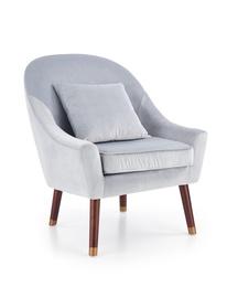 Atzveltnes krēsls Halmar Opale Light Grey, 78x73x86 cm