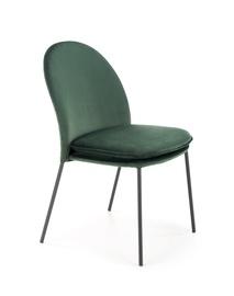 Ēdamistabas krēsls Halmar K443, tumši zaļa