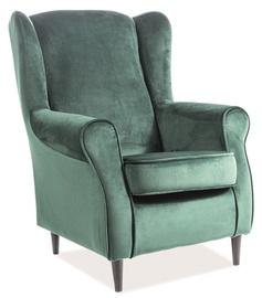 Atzveltnes krēsls Signal Meble Baron Green, 75x80x101 cm