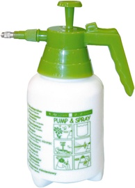 SeeSa Plastic Hand Pressure Hand Pump Manual Sprayer Green 1.5l