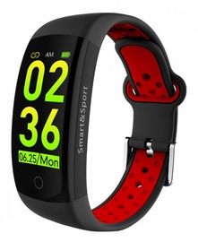 Fitnesa aproce ForMe Q6S, melna/sarkana