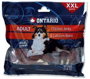 Пищевые добавки для собак Ontario Dog Chicken Jerky & Calcium Bone 500g