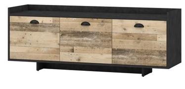 ТВ стол Vivaldi Meble Cup, коричневый, 1400x400x530 мм