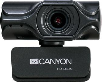 Интернет-камера Canyon С6, черный, CMOS