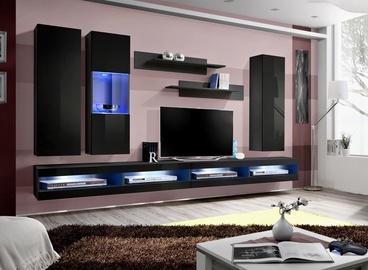 ASM Fly Q10 Living Room Wall Unit Set Black