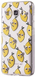 Mocco Cartoon Eyes Lemon Back Case For Samsung Galaxy A3 A320 Transparent/Yellow