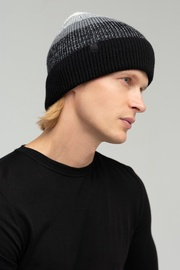 Audimas Knitted Hat With Wool 1-06-332 Black/White