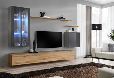 ASM Switch XII Wall Unit Wotan Oak/Graphite