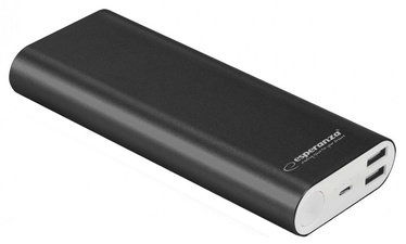 Внешний аккумулятор Esperanza EMP113 Black, 10000 мАч